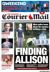 Courier Mail (Australia) Newspaper Front Page for 28 April 2012