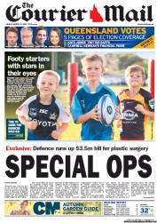 Courier Mail (Australia) Newspaper Front Page for 2 March 2012