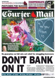 Courier Mail (Australia) Newspaper Front Page for 2 May 2012