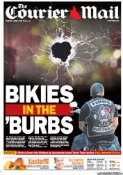 Courier Mail Newspaper Front Page (Australia) for 5 June 2012