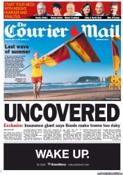 Courier Mail Newspaper Front Page (Australia) for 7 May 2012
