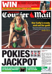 Courier Mail Newspaper Front Page (Australia) for 7 July 2012