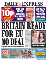 Daily Express (UK) Newspaper Front Page for 10 October 2017