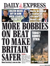 Daily Express (UK) Newspaper Front Page for 10 October 2019