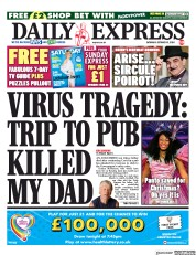 Daily Express front page for 10 October 2020