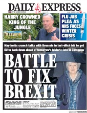 Daily Express (UK) Newspaper Front Page for 10 December 2018