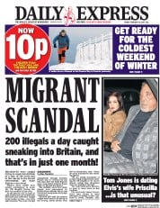Daily Express (UK) Newspaper Front Page for 10 February 2017