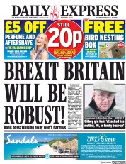 Daily Express (UK) Newspaper Front Page for 10 February 2018