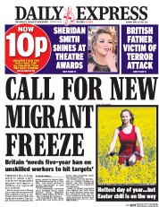 Daily Express (UK) Newspaper Front Page for 10 April 2017