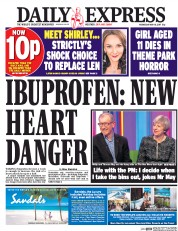 Daily Express (UK) Newspaper Front Page for 10 May 2017