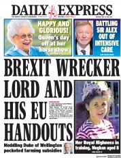 Daily Express (UK) Newspaper Front Page for 10 May 2018