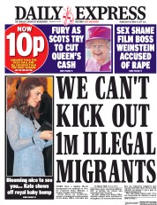 Daily Express (UK) Newspaper Front Page for 11 October 2017