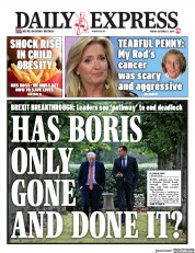 Daily Express (UK) Newspaper Front Page for 11 October 2019