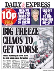 Daily Express (UK) Newspaper Front Page for 11 December 2017