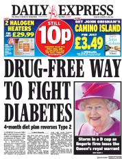 Daily Express (UK) Newspaper Front Page for 11 January 2018