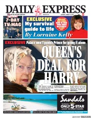 Daily Express (UK) Newspaper Front Page for 11 January 2020