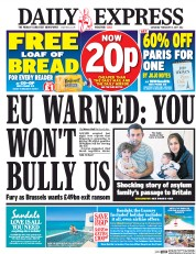 Daily Express (UK) Newspaper Front Page for 11 February 2017