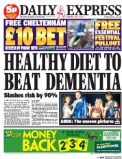 Daily Express (UK) Newspaper Front Page for 11 March 2014