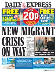 Daily Express (UK) Newspaper Front Page for 11 March 2017