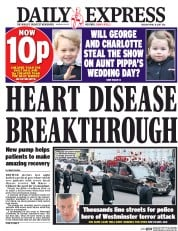 Daily Express (UK) Newspaper Front Page for 11 April 2017