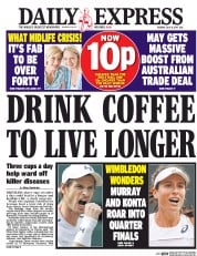 Daily Express (UK) Newspaper Front Page for 11 July 2017