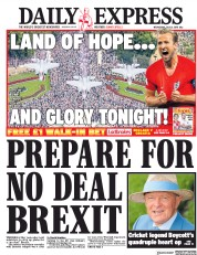 Daily Express (UK) Newspaper Front Page for 11 July 2018