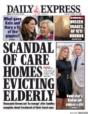 Daily Express (UK) Newspaper Front Page for 11 September 2019