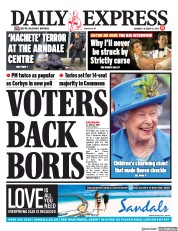 Daily Express (UK) Newspaper Front Page for 12 October 2019