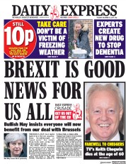 Daily Express (UK) Newspaper Front Page for 12 December 2017