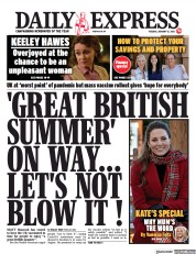 Daily Express front page for 12 January 2021