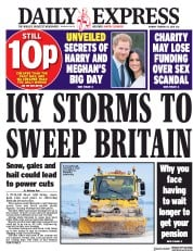Daily Express (UK) Newspaper Front Page for 12 February 2018
