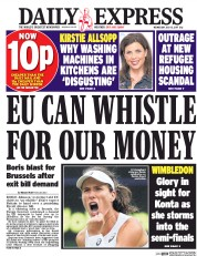 Daily Express (UK) Newspaper Front Page for 12 July 2017