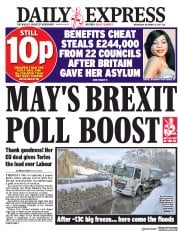 Daily Express (UK) Newspaper Front Page for 13 December 2017