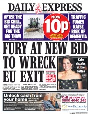 Daily Express (UK) Newspaper Front Page for 13 February 2017