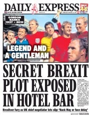 Daily Express () Newspaper Front Page for 13 February 2019