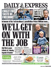 Daily Express front page for 13 April 2021