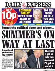 Daily Express (UK) Newspaper Front Page for 13 June 2017