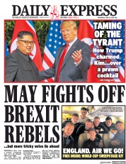 Daily Express (UK) Newspaper Front Page for 13 June 2018