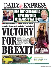 Daily Express (UK) Newspaper Front Page for 13 June 2019