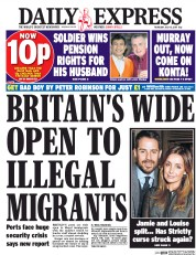 Daily Express (UK) Newspaper Front Page for 13 July 2017
