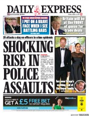 Daily Express (UK) Newspaper Front Page for 13 August 2019