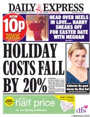 Daily Express (UK) Newspaper Front Page for 14 April 2017