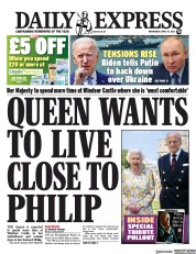 Daily Express front page for 14 April 2021