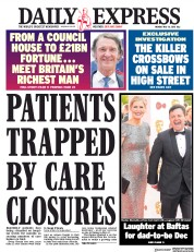 Daily Express (UK) Newspaper Front Page for 14 May 2018