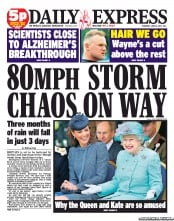 Daily Express Newspaper Front Page (UK) for 14 June 2012