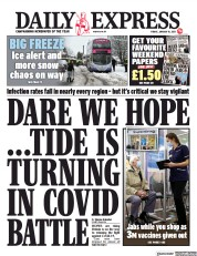 Daily Express front page for 15 January 2021