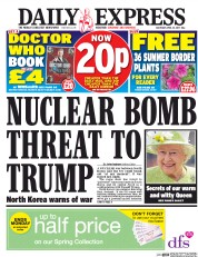 Daily Express (UK) Newspaper Front Page for 15 April 2017
