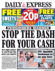 Daily Express (UK) Newspaper Front Page for 15 July 2017