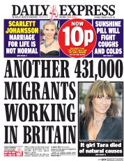 Daily Express (UK) Newspaper Front Page for 16 February 2017