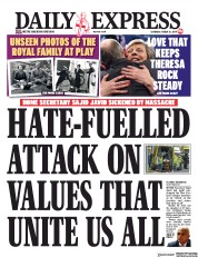 Daily Express () Newspaper Front Page for 16 March 2019